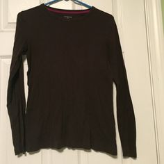 Crew neck long sleeve tee Cotton, crew neck long sleeve tee. Great for everyday, very casual and comfortable! Lands' End Tops Tees - Long Sleeve