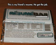 "An innovative resume design!  How to put your best and most creative ""foot"" forward.  I hope they deserve this guy."
