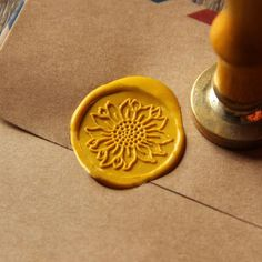 sunflower wax seal