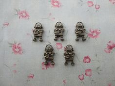 2 colors choiceset of 30 metal robot by BeautyYourLife on Etsy, $2.99