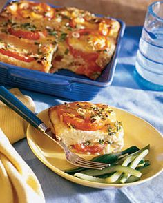 tomato n cheese strata very rich strata recipesbrunch - Cheese Strata Recipes Brunch