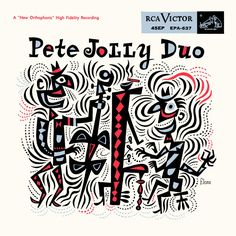 *Jim Flora*'s 1955 Pete Jolly Duo RCA Victor EP cover