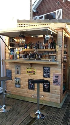 Diy outdoor bar, Outdoor kitchen bars, Outdoor bar, Porch bar, Outdoor tiki b. Pool Bar, Bar Patio, Outdoor Garden Bar, Garden Bar Shed, Outdoor Tiki Bar, Outdoor Kitchen Bars, Backyard Bar, Outdoor Bars, Rocks Garden