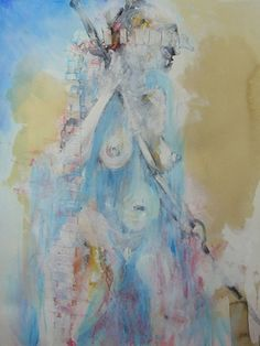 "Saatchi Online Artist Jennifer Gillia Cutshall; Painting, ""Demeter, Goddess of the Hunt"" #art"