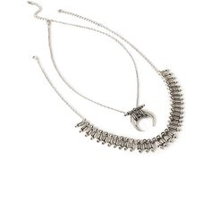 Forever 21 Tribal-Inspired Pendant Necklace Set (€7,07) ❤ liked on Polyvore featuring jewelry, necklaces, accessories, collar, joias, body chain jewelry, tribal pendant, diamond pendant jewelry, chain collar necklace and pendant chain necklace