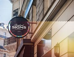 """Check out new work on my @Behance portfolio: """"Round Storefront Signboard PSD Mock up"""" http://be.net/gallery/47331383/Round-Storefront-Signboard-PSD-Mock-up"""