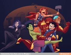Teen titans GO. Wait no AVGERS ASSEMBLE. Wait that can't be right
