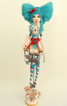 Carmen ,carousel art doll ,funfair theme. Art work by Alexandra Soury 2017