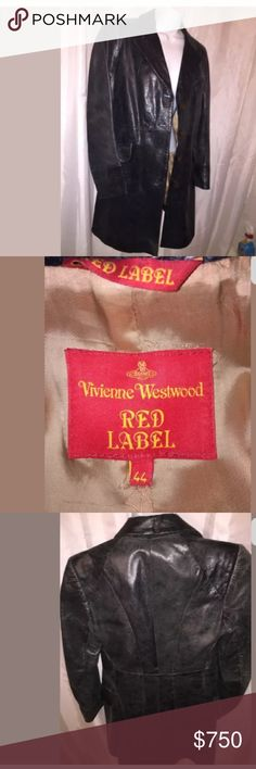 VIVIEN WESTWOOD RED size 44 leather jacket $2200 Made In Italy - piece work distressed leather jacket from Vivienne Westwood Red Label. RETAIL $2200 Vivienne Westwood Jackets & Coats