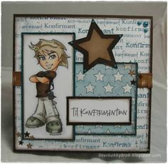 Love this boy card! Boy Cards, Kids Cards, Confirmation Cards, Kids Birthday Cards, Digi Stamps, Masculine Cards, Scrapbook Cards, Homemade Cards, Mini Albums