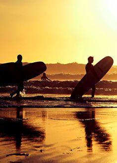 603e3436cc Golden yellow sunshine at the ocean. Sunset Surf