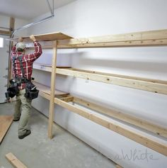 Ana White   Easy and Fast DIY Garage or Basement Shelving for Tote Storage - DIY Projects