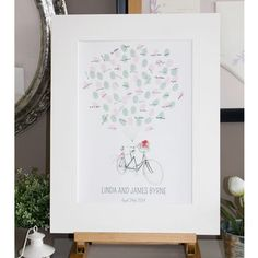 Personalised Bicycle Thumbprint Guest Book