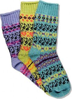 Tune In Fairisle Socks