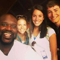 Yep, that's Shaq apparently photo-bombing our students in downtown L.A. after XGames! #LynnUniversity