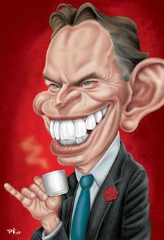 Tony Blair (Caricature) Dunway Enterprises: http://dunway.com - http://masterpaintingnow.com/how-to-draw-everything?hop=dunway