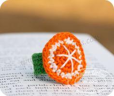 Free orange crochet