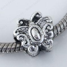 5pcs Butterfly Spacer European Beads Fit Charm Bracelet