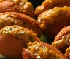 Brazilian Shrimp Fritters (Acarajé) - Acarajé originates in the region of Bahia. It´s a mixture of Brazilian and African cooking and flavor. It´s a delicious fast food that can be found on street vendors all over Brazil. They are a slightly complicated to make but totally delicious and are sure to impress!