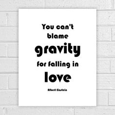Albert Einstein Quote Love Wall Decor Falling by AlbatrossCreation
