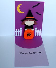 Pop up Halloween card  handmade by PaperButterflyShoppe on Etsy