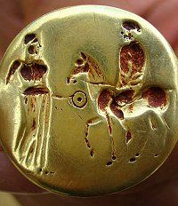 Bulgarian archaeologists found this golden ring in the tomb of a Thracian king earlier this year