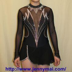 Beautiful Dress for Dancing Sports & Figure Skating.brands JM. Model K196.Black