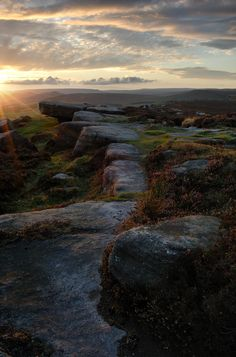 Sunrise over an English moor