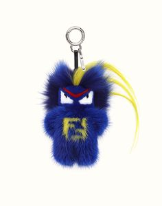 Fendi Rumi Blue Fur Charm Indigo Blue Precious Bag Charm, entirely hand-made in blue mink, with a yellow kidassia crest insert. Bug-Kun also has a touch of blue fox fur a Couture Accessories, Handbag Accessories, Fendi Bag Charm, Fendi Bag Bugs, Italian Luxury Brands, Red Fur, How To Make Purses, Fox And Rabbit, Cute Keychain