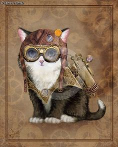 steampunk kitten - Google Search