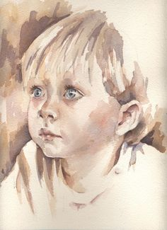 very early portrait of mine -Jean Haines Watercolor Face, Watercolor Artists, Watercolor Portraits, Watercolor Paintings, Watercolours, Portrait Au Crayon, Portrait Art, Painting People, Drawing People