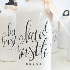 Brand Launch: Lace & Bustle Bridal | modern calligraphy logo designed by Salted Ink