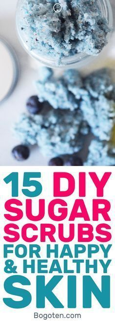 Sugar scrubs are a great way to exfoliate the skin. However, they can be pretty pricey. Here are some sugar scrub recipes that I found that you can do at home. #DIY #SugarScrub