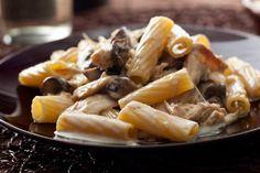 Creamy Rigatoni with Chicken and Mushrooms