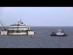 Time Lapse Video: Costa Concordia wreck raised from under-sea platform