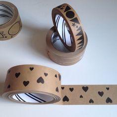 Paper Parcel Tape : Hearts | Lollipop Designs