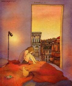 Puuung – Love is: So sieht Liebe aus - Art - bento Korean Illustration, Couple Illustration, Character Illustration, Illustration Art, Love Is Sweet, What Is Love, Cute Love, Puuung Love Is, Guache