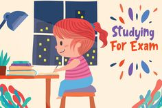 Studying For Exam Illustration in 2020 Vector illustration Graphic illustration Illustration