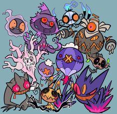 Ghost Type Pokemon, Pokemon Fan Art, Cute Pokemon, Pokemon Go, Pokemon Stuff, Pokemon Images, Pokemon Pictures, Pokemon Universe, Art Inspiration Drawing