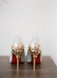 Glam wedding shoes f