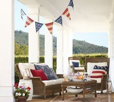 Fourth of July Burlap Party Banner | Pottery Barn