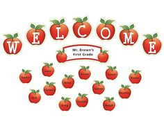 Apples and Dots Welcome Mini Bulletin Board (TCR4781) « Products   Teacher Created Resources