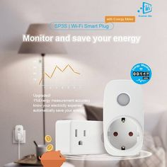 Broadlink Wifi Smart Plug SP3S Power Meter Monitor 16A Timer Socket Outlet Remote Wireless Control