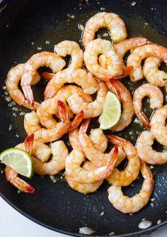 Caramelized Honey Lime & Garlic Shrimp