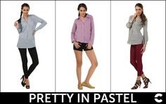 Global fashion runways proved that pastel hues aren't just for Easter egg hunts and tea time anymore!  Play up these elegant pastel pieces with leggings, skinnies or shorts and you are ready to strike down any hunk in the city! Complete the look with a nice pair of loafers, sandals or ballerinas!  Make them yours today!    Shop: http://www.freecultr.com/outlet/women