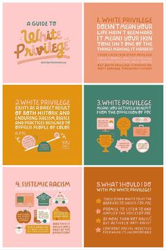 A guide to white privilege by @courtneyahndesign Social Change, Social Work, Equality Diversity And Inclusion, Racial Equality, White Privilege, Anti Racism, Along The Way, Social Justice, Brand Identity Design