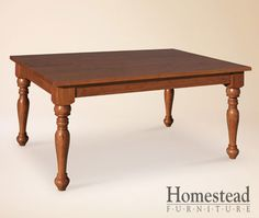 Tuscany Farm Dining Table by Homestead Furniture made in Amish Country.