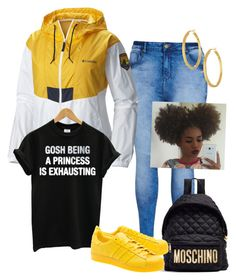 """""""Untitled #4"""" by zebralove200 on Polyvore featuring City Chic, Columbia, Moschino, adidas Originals and Argento Vivo"""