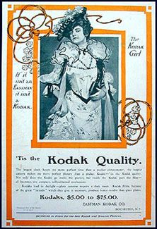 1902 'Tis the Kodak Quality. If it isn't an Eastman, it isn't a Kodak. The Kodak Girl.