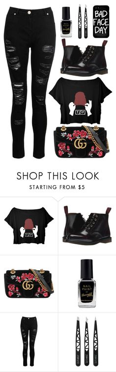 """#440 Twenty One Pilots"" by mayblooms ❤ liked on Polyvore featuring Dr. Martens, Gucci, Barry M, Dorothy Perkins, Local Heroes, 60secondstyle and outdoorconcerts"